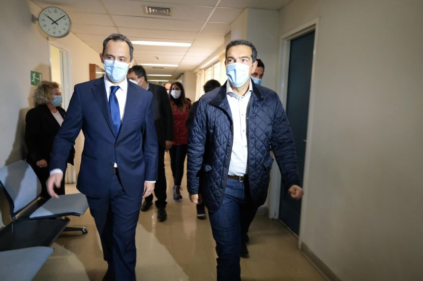 Τσίπρας στο Θριάσιο: Μετά το αποτυχημένο λοκντάουν, ξανά δραματική η κατάσταση - Οι ιδιωτικές κλινικές μένουν covid free – Ασθενείς υποφέρουν γιατί ακυρώνονται χειρουργεία