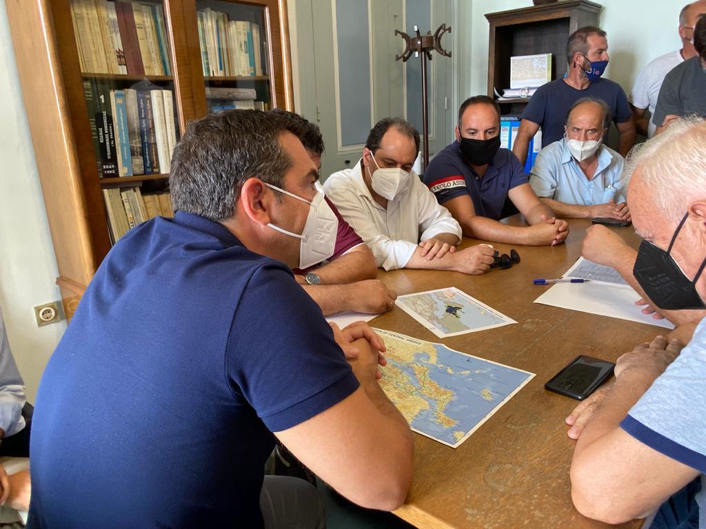 Επίσκεψη του Προέδρου του ΣΥΡΙΖΑ-Προοδευτική Συμμαχία στην Εύβοια στις πληγείσες περιοχές
