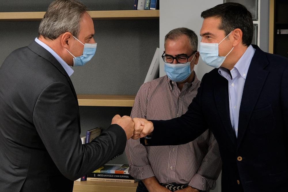 Συνάντηση του Προέδρου του ΣΥΡΙΖΑ-Προοδευτική Συμμαχία, Αλέξη Τσίπρα με τον Γ.Γ. του ΑΚΕΛ Στέφανο Στεφάνου