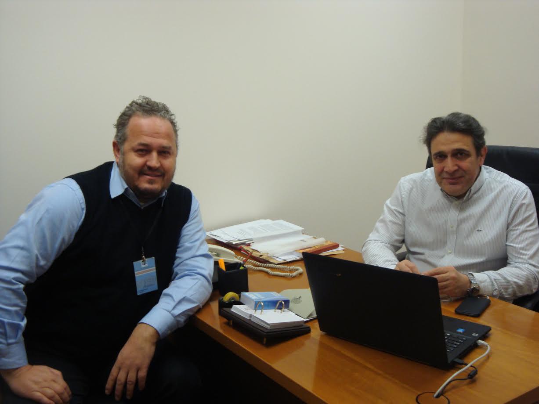 Συνάντηση του Νίκου Ηγουμενίδη με τον Πρόεδρο της Ελληνικής Ομοσπονδίας Αθλητισμού Κωφών Ιωσήφ Σταυρακάκη