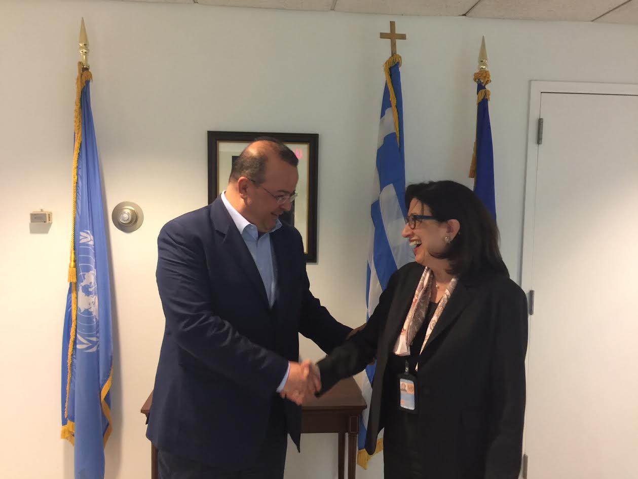 Σειρά επαφών του Προέδρου της Επιτροπής της Βουλής για τον Ελληνισμό της Διασποράς, Αλ. Τριανταφυλλίδη στη Νέα Υόρκη