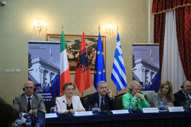 Ανάληψη ευρωπαϊκού έργου από τη Βουλή των Ελλήνων για την ενίσχυση του Κοινοβουλίου της Αλβανίας στο πλαίσιο της ενταξιακής πορείας της χώρας στην Ε.Ε.