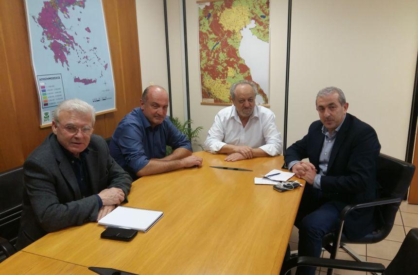 Συνάντηση Βαρδάκη – Θραψανιώτη με τον Πρόεδρο και Αντιπρόεδρο του ΕΛΓΑ