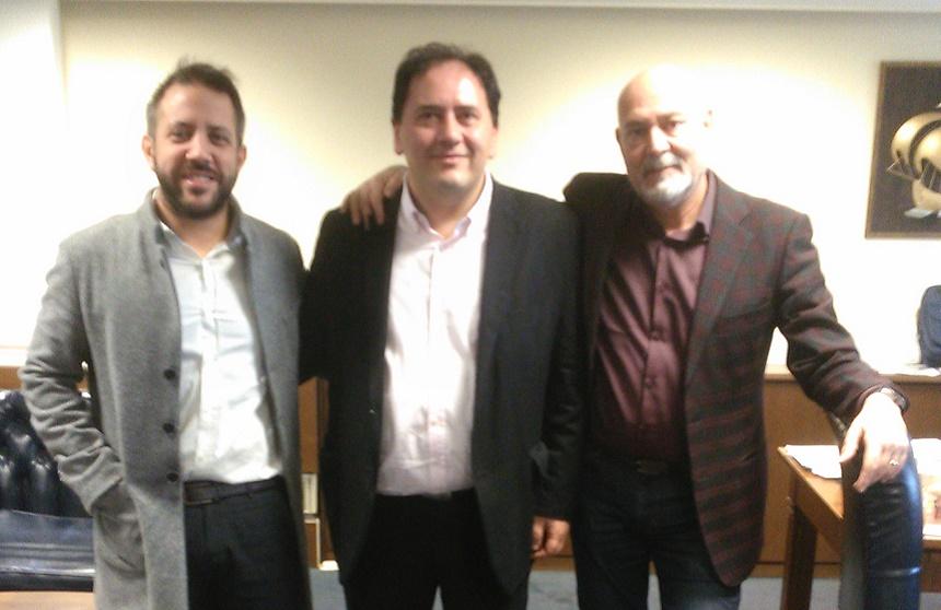 Ο Αλ. Μεϊκόπουλος στο Υπουργείο Ναυτιλίας και Νησιωτικής Πολιτικής για την ακτοπλοϊκή σύνδεση Βόλου-Β. Σποράδων και με τον Πρόεδρο του ΟΛΒ για το μηχανολογικό εξοπλισμό του λιμανιού του Βόλου