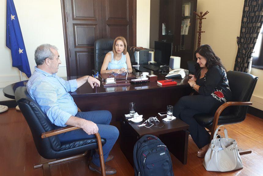 Συνάντηση του Σωκράτη Βαρδάκη με τη Συντονίστρια Αποκεντρωμένης Διοίκησης Κρήτης