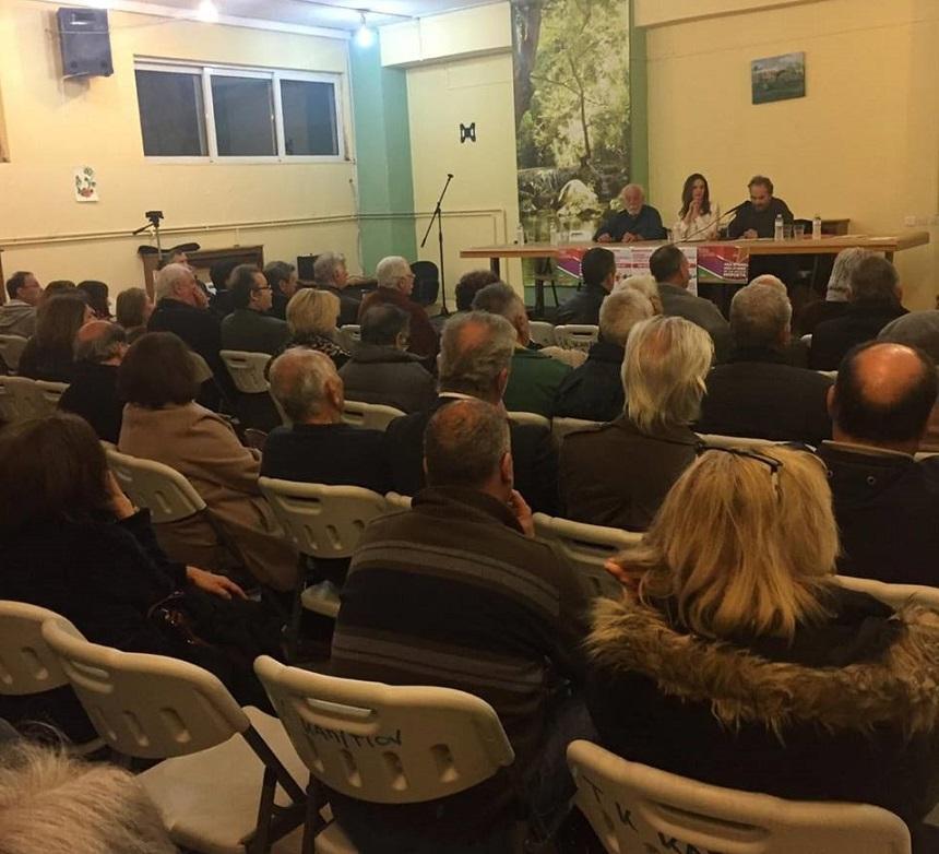 Από την ανοιχτή πολιτική εκδήλωση της Ο.Μ. ΣΥΡΙΖΑ Καπανδριτίου με ομιλήτρια την Έφη Αχτσιόγλου