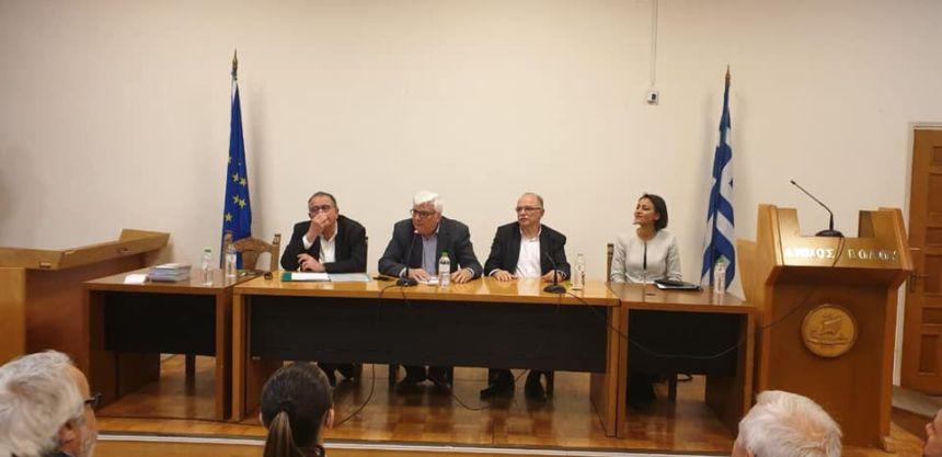 Από την εκδήλωση του ΣΥΡΙΖΑ - Προοδευτική Συμμαχία στο Βόλο με θέμα: «Ευρωεκλογές 2019: Ένα προοδευτικό μέτωπο για την Ευρώπη»
