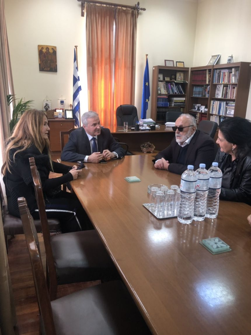 Με τον δήμαρχο Αιγιαλείας κ. Αθανάσιο Παναγόπουλο
