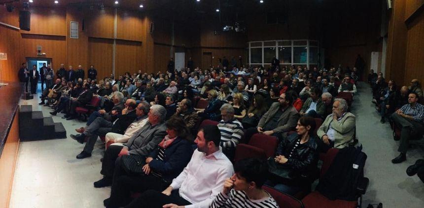 Από την ανοιχτή εκδήλωση της Ν. Ε. Β΄ Θεσσαλονίκης του ΣΥΡΙΖΑ στη Θέρμη με ομιλήτρια την Έφη Αχτσιόγλου