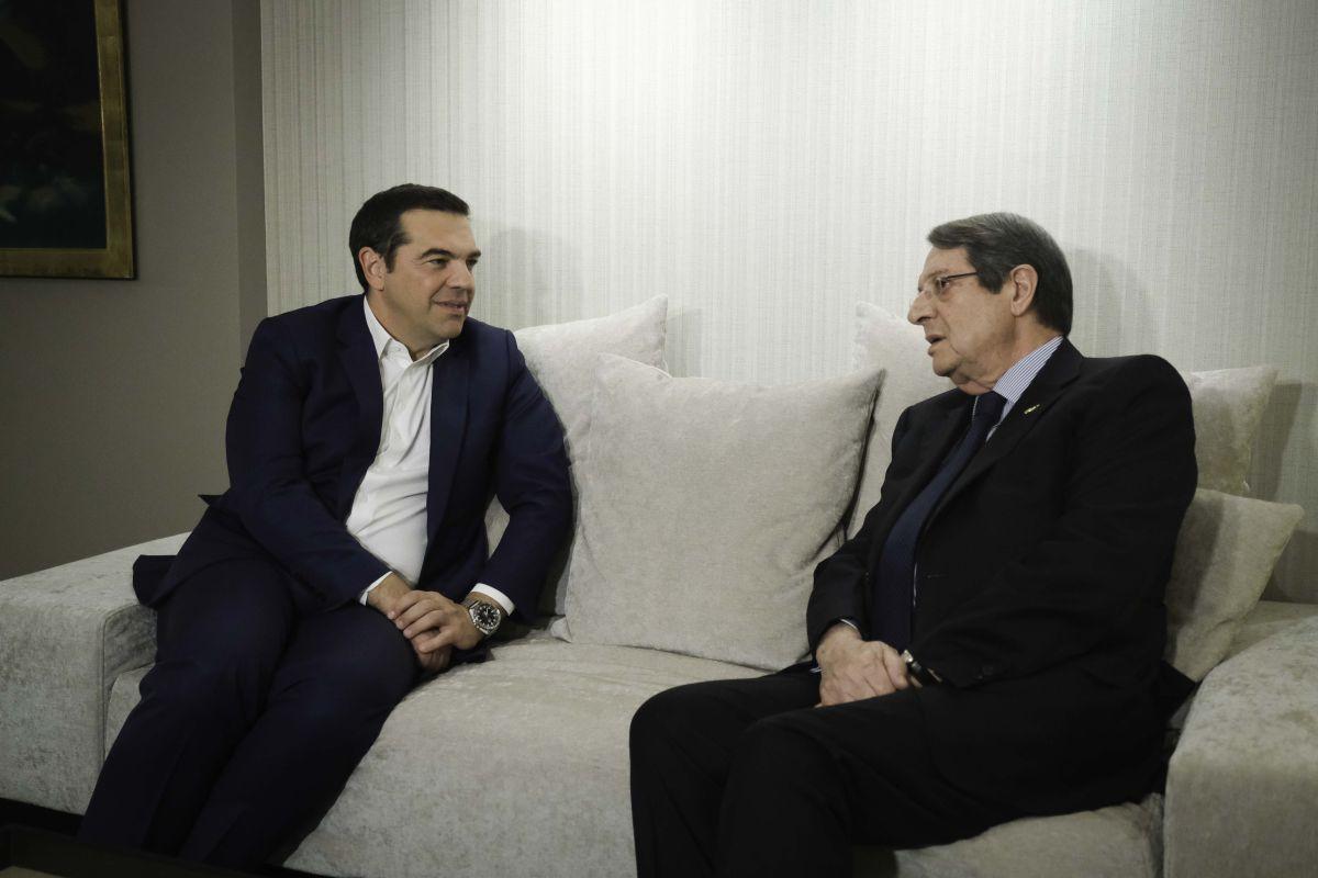 Συνάντηση του Αλέξη Τσίπρα με τον Νίκο Αναστασιάδη