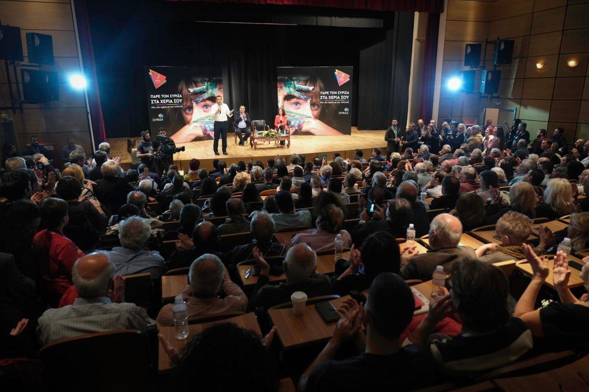 Ο Αλέξης Τσίπρας σε ανοιχτή συνέλευση στη Νίκαια