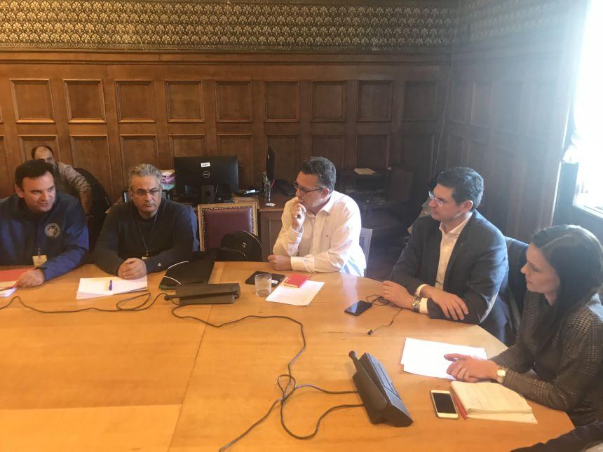 Συνάντηση βουλευτών του ΣΥΡΙΖΑ με τους εργαζόμενους στα Λιπάσματα Καβάλας
