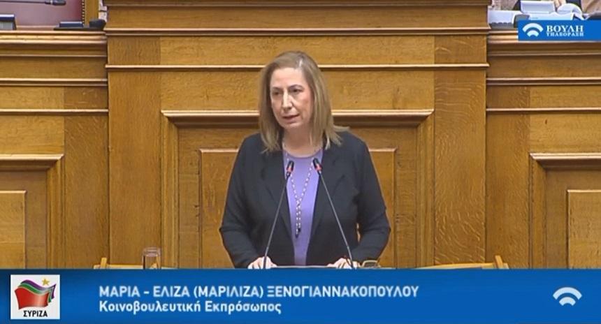 Μ. Ξενογιαννακοπούλου: Θλιβερή και ντροπιαστική στιγμή για το Κοινοβούλιο οι δηλώσεις Μπογδάνου - Η ΝΔ τις υιοθετεί;