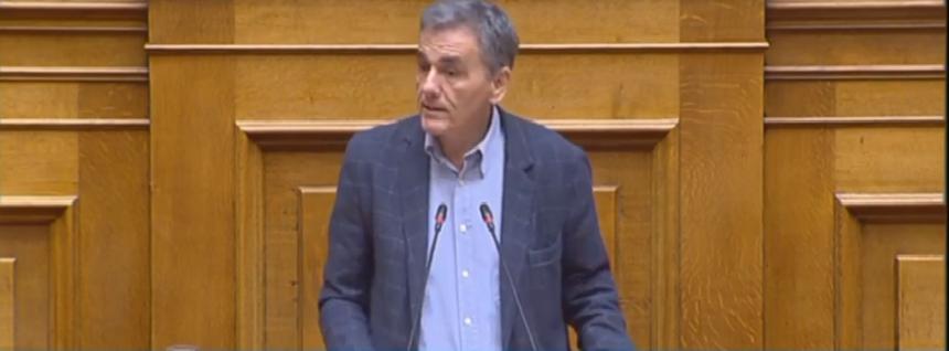 Ευκ. Τσακαλώτος: Η πολιτική της κυβέρνησης μας οδηγεί σε νέα μνημόνια