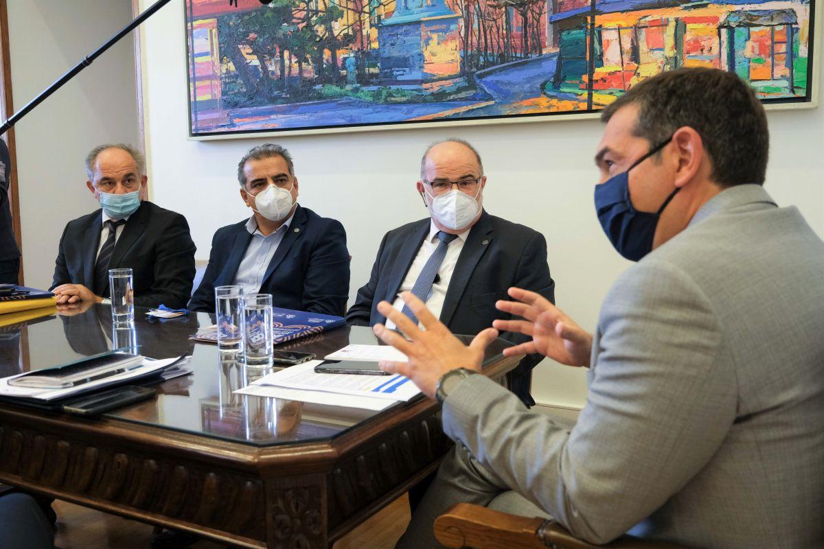 Συνάντηση του προέδρου του ΣΥΡΙΖΑ – Προοδευτική Συμμαχία, Αλέξη Τσίπρα με την ΓΣΕΒΕΕ