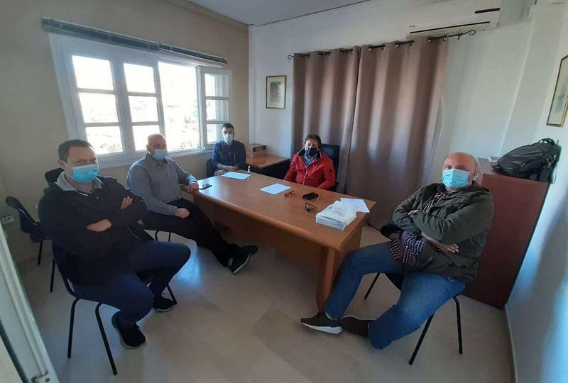 Συνάντηση Αυλωνίτη με Ένωση Προσωπικού Λιμενικού Σώματος Β.Κέρκυρας